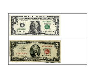 Life Skills: Match the Face to the Bill (Money)
