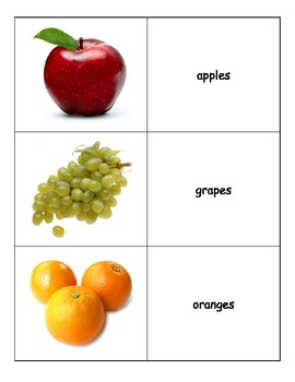Life Skills: Match the Fruits