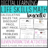 Life Skills Math Distance Learning Lessons BUNDLE