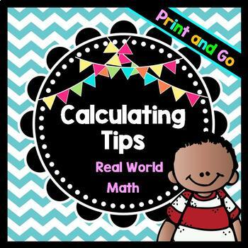 Life Skills Math, Money, and Reading: Calculating Tips When Going Out to Eat