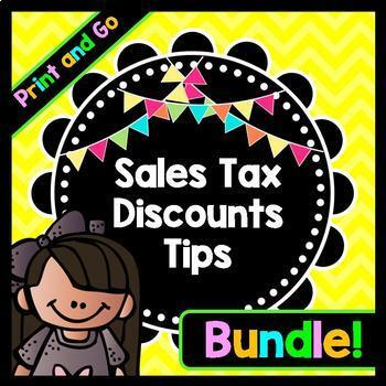 Life Skills Math, Money, and Reading: Tips, Sales Tax, and Discount BUNDLE