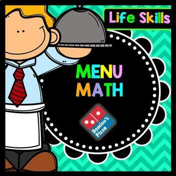 Life Skills Menu Math and Money Practice: Dominos