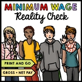 Life Skills - Minimum Wage - Gross and Net Pay - Jobs - Real World Math - Money