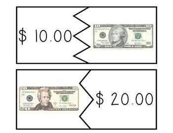 Life Skills Money Puzzles & File Folder Activity