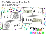 Life Skills Money Puzzles & File Folder Activity