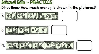 Life Skills Money and Math - Counting Money - Dollar Bills Edition - UNIT FOUR