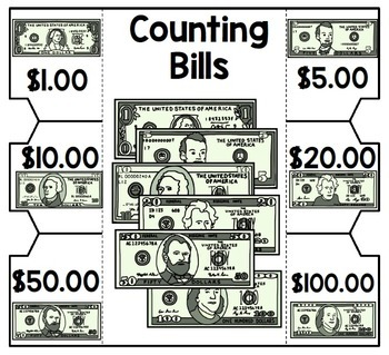 Life Skills Money and Math - INTERACTIVE NOTEBOOK For Counting Bills UNIT TWO