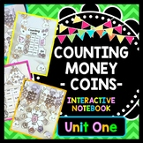 Life Skills Money and Math - INTERACTIVE NOTEBOOK For Counting Coins UNIT ONE