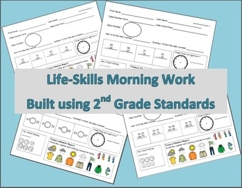 Life-Skills Morning Work 2nd Grade Level