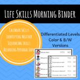 Life Skills-Morning Work Binder