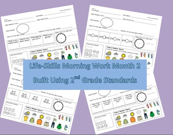 Life-Skills Morning Work Month 2 -  2nd Grade Level