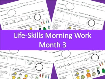 Life-Skills Morning Work Month 3 -  2nd Grade Level