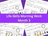 Life-Skills Morning Work Month 3 -  2nd Grade Level
