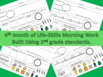 Life-Skills Morning Work Month 4 -  2nd Grade Level