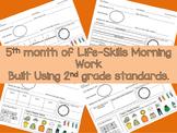 Life-Skills Morning Work Month 5 -  2nd Grade Level