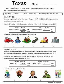 Life Skills - Paying Taxes