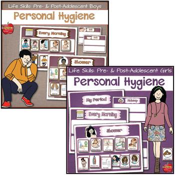life skills personal hygiene visual schedules pre post adolescent