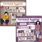 Life Skills Personal Hygiene Visual Schedules: Pre/Post Adolescent BUNDLE