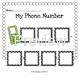 Life Skills: My Phone Number Lap Book