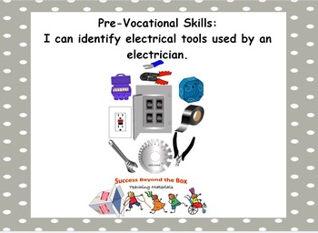 Life Skills/Pre-Vocational Skills: I Can Identify Electrical Tools and Parts