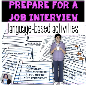 Life Skills: Preparation for a Job Interview Task Cards & Accommodations