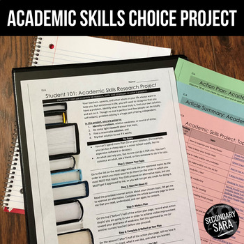 Life Skills Project: Become a Better Student! (ELA & Cross-Curricular)