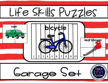 Life Skills Puzzles: Garage Differentiated Set