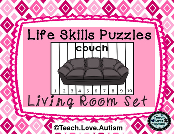 Life Skills Puzzles: Living Room Differentiated Set