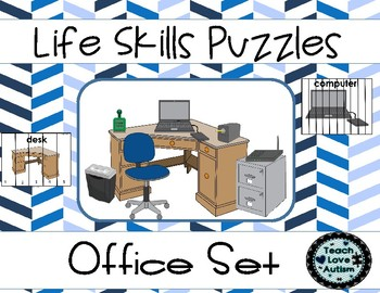 Life Skills Puzzles: Office Differentiated Set
