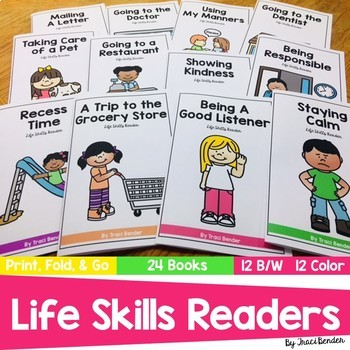 Life Skills Readers   24 books   12 B/W 12 Color