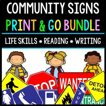 Life Skills - Reading - Community Safety Signs - Special E