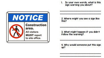 Life Skills - Reading - Community Safety Signs - Special Education - BUNDLE