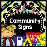 Life Skills - Reading - Community / Safety Signs - Special Education - Unit 2