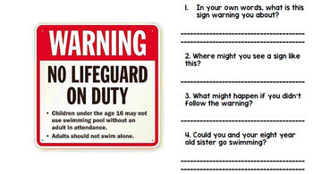 Life Skills - Safety Signs - Community Signs - Special Education - Reading