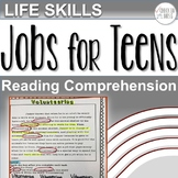 Life Skills Reading Comprehension Jobs for Teens