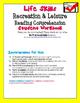 Life Skills Reading Comprehension: Recreation & Leisure FREEBIE