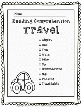 Life Skills Reading Comprehension Travel