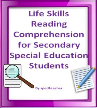 Life Skills Reading Comprehension for Secondary Special Education Students
