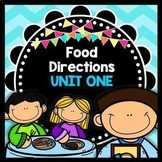Life Skills - Reading - Cooking - Food Prep Directions - Special Ed - Unit One