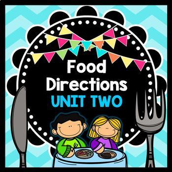Life Skills - Reading - Cooking - Food Prep Directions - Special Ed - Unit Two