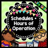 Life Skills Reading: Hours of Operation and Schedules