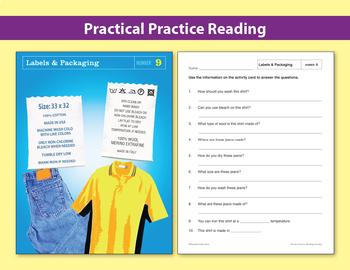 Life Skills Reading: Labels & Packaging Comprehension