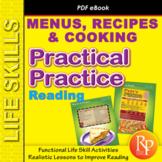 Life Skills Reading: Menus & Recipes Comprehension