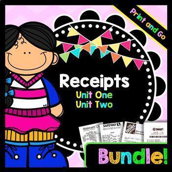 Life Skills Reading: Receipts BUNDLE Pack!