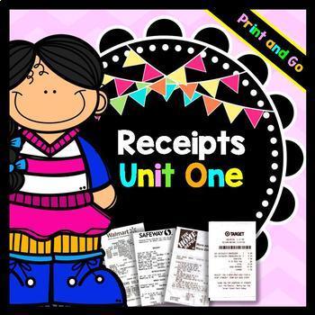 Life Skills Reading: Receipts, Unit 1