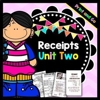 Life Skills Reading: Receipts, Unit 2