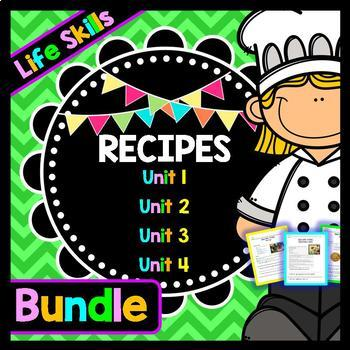Life Skills Reading Recipe Comprehension - BUNDLE!!!!! Uni