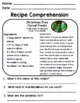 Life Skills Reading: Recipe Comprehension - Christmas / Ho