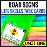 Life Skills - Reading - Road Signs - Driving Permit Practice - Cars - Task Cards