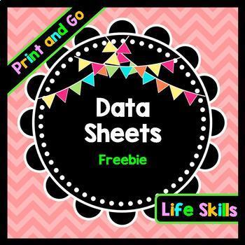 Life Skills Reading, Writing, and Math: Data Tracking FREEBIE
